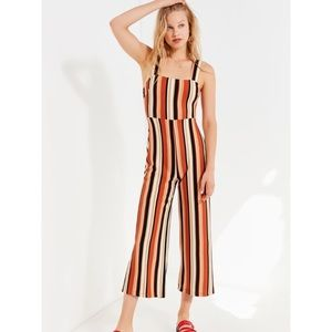 Delaney Straight-Neck Striped Jumpsuit from UO